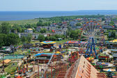 Aerial view of the amusement park — Stock Photo