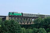 Trem de passageiros — Foto Stock