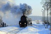 古いレトロな蒸気機関車 — ストック写真