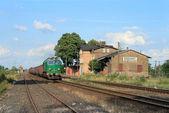 контейнерные перевозки дизель-поезд — Стоковое фото