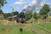 Pociąg retro non steam — Zdjęcie stockowe