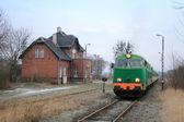 Treno alla stazione — Foto Stock