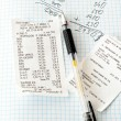 Stock Photo: Bills and calculations
