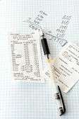 Bills and calculations — Stock Photo