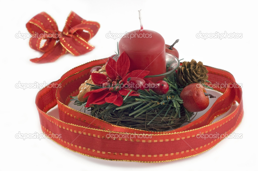 Christmas decoration with season's theme elements  Stock Photo #1889361
