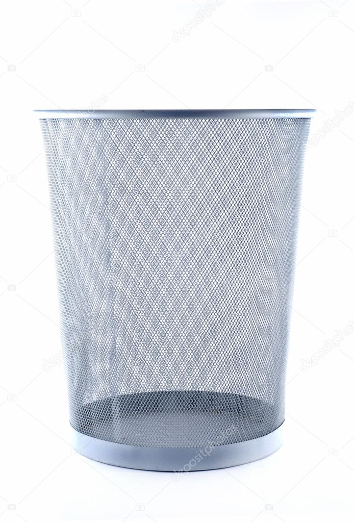 Trash can isolated on white background — Stock Photo #1898783