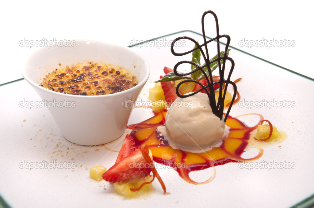 Gourmet desserts on a plate isolated — Stock Photo #2485147