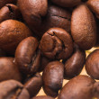 Stock Photo: Coffee grains close-up