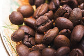 Coffee grains close-up — Stock Photo