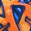 Royalty-Free Stock Photo: Blue and Orange Graffiti