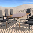 Stock Photo: Meeting room in desert