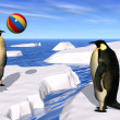 Penguins Playing — Stockfoto