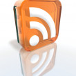 Orange RSS sign — Stock Photo #1885040