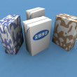 Milk packs - Foto Stock