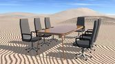 Meeting room in desert — Stockfoto