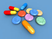 Ecstasy pills — Stockfoto