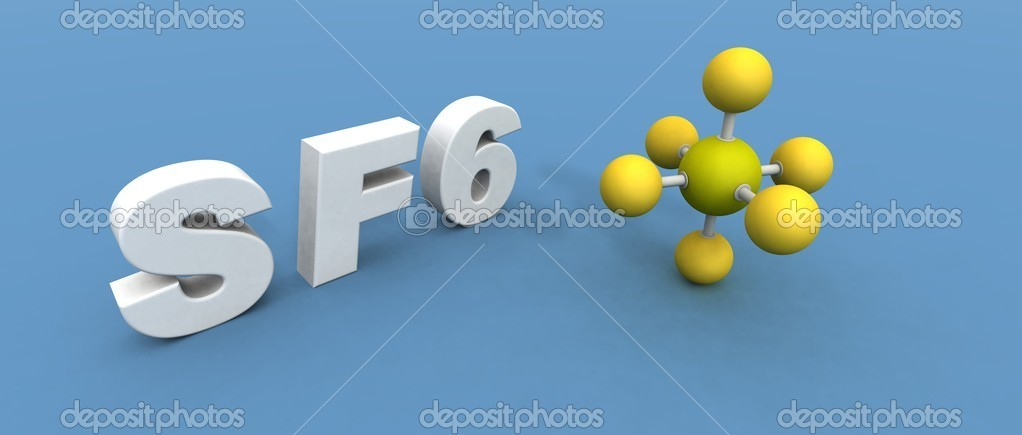 A 3d render of a sulfur hexafluoride — Stock Photo #1886117