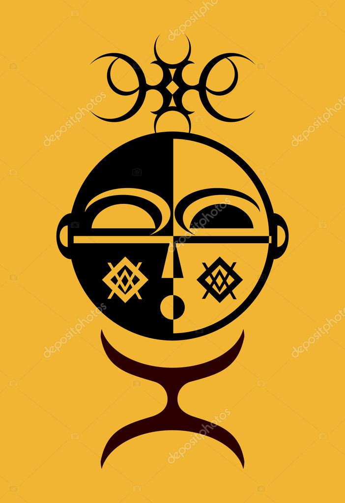 Tribal designed African Idol — Stock Vector #1889810