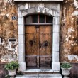 Stock Photo: Old provence entrance door