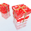 Red and white gifts — Stock Photo