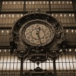 Stock Photo: Paris - Ancient clock in Orsay Museu