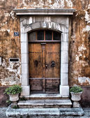 Old provence entrance door — Stock Photo