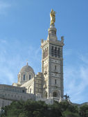 Marseille cathedral of Notre-Dame de la — Stock Photo