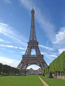 The Eiffel Tower in Paris — Stockfoto