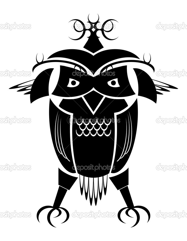 A stylided tribal design of an owl — Stock Photo #1892699