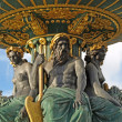 Paris - The fountain in Concorde Square — Stock Photo