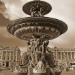 Paris - The fountain in Concorde Square - Stock Photo