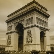 Paris - Triumph arch — Stock Photo