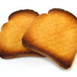 Slices of melba toast - Stock Photo
