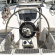 Stock Photo: Rudder on luxury yacht