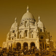 The Basilica of Sacre-Coeur in Paris - Stock Photo