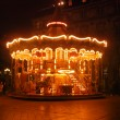 Stock Photo: Merry-go-round in night