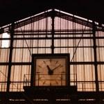Train station clock — Stock Photo #1926611
