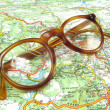 Royalty-Free Stock Photo: Glasses on a map