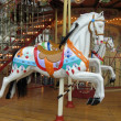 Stock Photo: Carousel horses