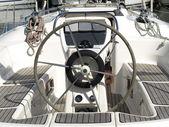 豪華ヨットの舵 — ストック写真