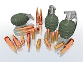 Grenades and bullets — Stock Photo