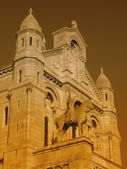 Paris by night - part of the City Hall — Stock Photo