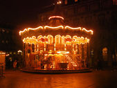 Merry-go-round in the night — Stock Photo