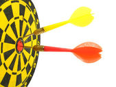 Target and darts — Stock Photo
