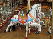 Carousel horses — Stock Photo