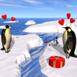 Penguin lovers - Stock Photo