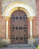 Church entrance door — Stock Photo