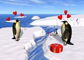 Penguin lovers — Stock Photo