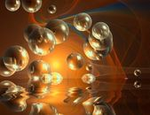 Bubbles and reflection abstraction — Stock Photo
