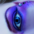 Eye with bright make-up — Stock Photo